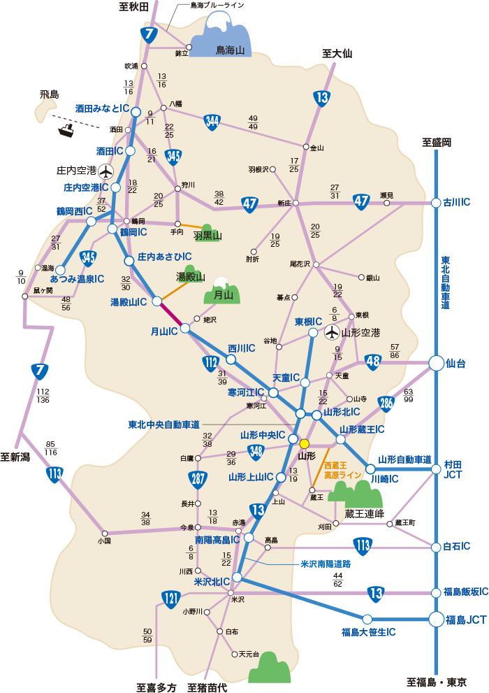 地図1-山形県全体図