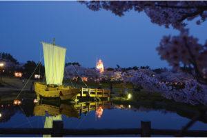 酒田市「日和山公園の桜」